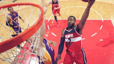 John Wall scored 33 points to lead the Washington Wizards over the Los Angeles Lakers, 116-108, at Verizon Center in D.C. on Feb. 2.