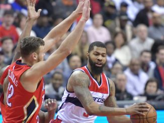 Washington Wizards forward Markieff Morris looks to pass in the second quarter of the Wizards' 105-91 win against the New Orleans Pelicans at Verizon Center in northwest D.C. on Feb. 4. (John De Freitas/The Washington Informer)