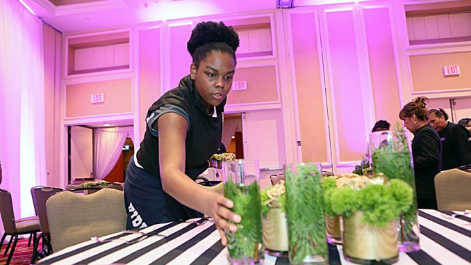 DCPS students participate in EnventU, a work-based learning program where they plan and produce events like receptions, concerts and galas. (Courtesy of EnventU)