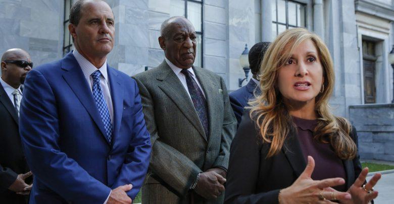 From left: Criminal defense attorney Brian McMonagle, Bill Cosby and criminal defense attorney Angela C. Agrusa (Courtesy of Andrew Wyatt)