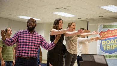 Congressional Chorus members rehearse at Calvary Baptist Church for an upcoming performance. (Mark Mahoney)