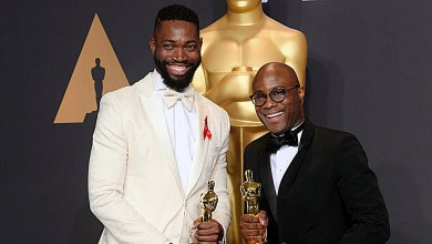 Tarell Alvin McCraney (left) and Barry Jenkins