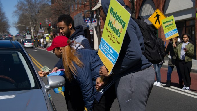 Howard University students hit the streets on Sunday, March 5 to raise money for participants in the Alternative Spring Break.