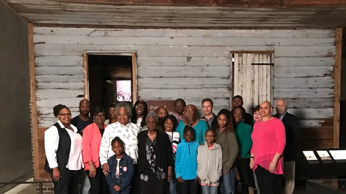Edisto Island residents visit the National Museum of African American History and Culture for the first time on April 10. (Courtesy of NMAAHC)
