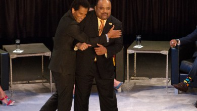 American writer, music journalist, cultural critic and television personality Touré with TV One host Roland Martin (Mark Mahoney/The Washington Informer)