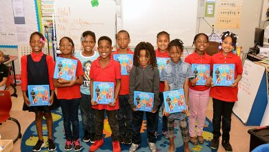 Students from Martin Luther King Jr. Elementary School are characters in books produced by the Living Storybook project. (Courtesy of Do the Write Thing)
