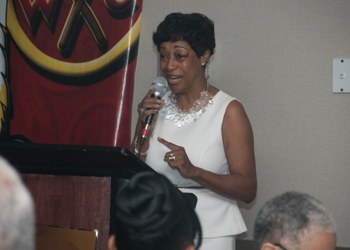 Joyce Harris at the 8th Annual Cardozo All-Met Hall of Fame Awards Dinner in Upper Marlboro, Md., April 30, 2017. /Photo by Shevry Lassiter