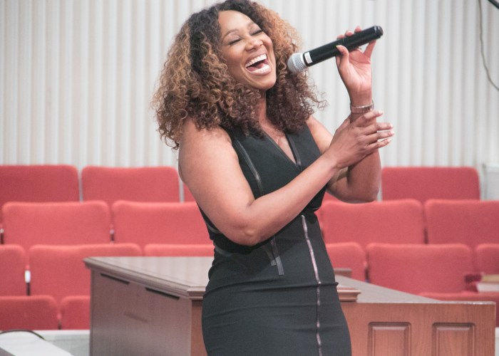 Gospel artist Yolanda Adams performs at the LM Foundation's domestic violence awareness concert held at Nineteenth Street Baptist Church in Northwest on May 6, 2017/Photo by Shevry Lassiter