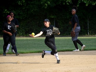 The DC Grays RBI, a program aimed at revving up baseball in inner cities, has produced a women's softball team competing in the RBI regionals in Philadelphia this month. (Lateef Mangum/The Washington Informer)