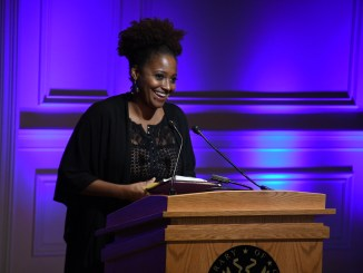 New Poet Laureate Tracy Smith gives her inaugural reading on Sept. 13 at the Thomas Jefferson Building in southeast D.C. (Roy Lewis/The Washington Informer)