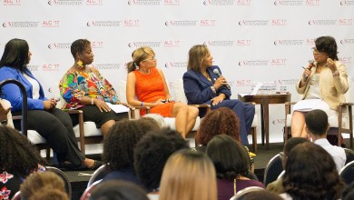 Veteran journalist April Ryan moderates a panel discussion on Black women and the criminal justice system during the Congressional Black Caucus Foundation's 47th Annual Legislative Conference in D.C. on Sept. 20. (Mark Mahoney/The Washington Informer)
