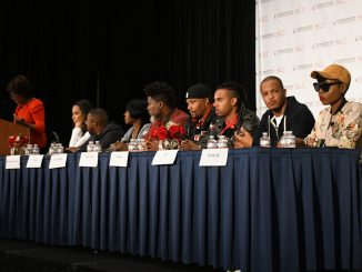 "Rapper T.I. speaks to youth at the ""Young, Gifted and Black - Reclaiming Our Time"" panel during the Congressional Black Caucus Foundation's 47th Annual Legislative Conference at the Walter E. Washington Convention Center in northwest D.C. on Sept. 22. (Roy Lewis/The Washington Informer)"