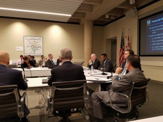 Metro board members hold a meeting on Sept. 14 at the transit agency's headquarters in northwest D.C. (William J. Ford/The Washington Informer)