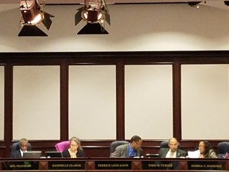 The Prince George's County Council holds a Nov. 14 meeting at the county administration building in Upper Marlboro, where they voted to allow a medicinal cannabis business to open in the county. (William J. Ford/The Washington Informer)