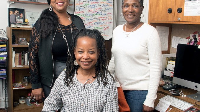From left: The Washington Informer's Mable Neville, Denise Rolark Barnes and Angie Johnson