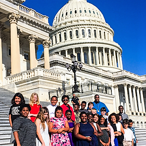 A group of D.C. students recently toured the U.S. Capitol Building. (Courtesy of Inspired Teaching Demonstration PCS)
