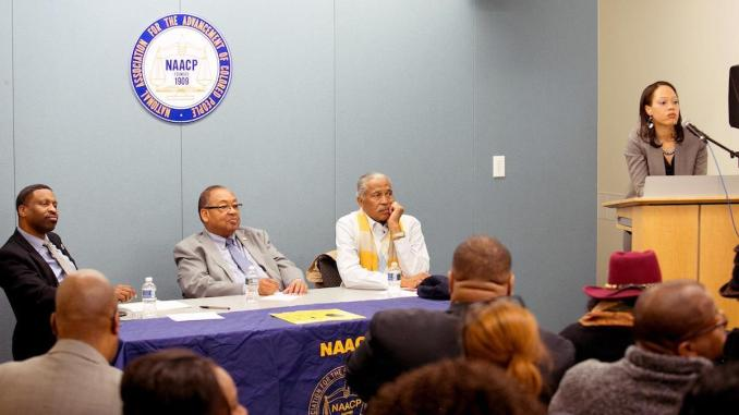 "The NAACP holds the last stop of its ""NAACP Forward: Today, Tomorrow & Always Listening Tour"" in D.C. on Dec. 4. (Mark Mahoney/The Washington Informer)"