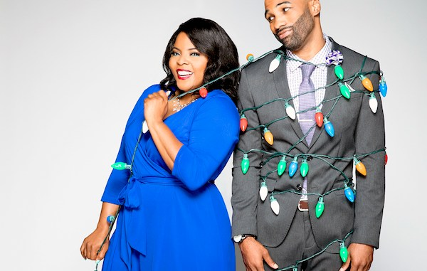 "Brély Evans and Andra Fuller star in the new TV One film ""You Can't Fight Christmas."" (Courtesy photo)"