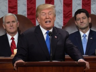 President Donald Trump gives the State of the Union address from the U.S. Capitol on Jan. 30.