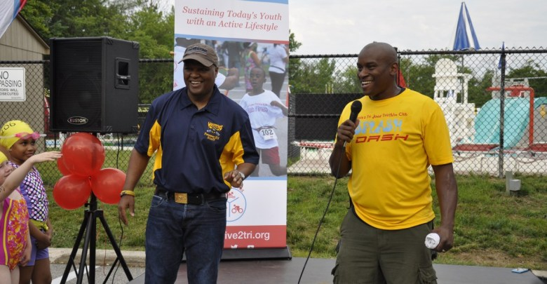Prince George's County Executive Rushern Baker (left) has supported the efforts of Strive 2 Tri. (Courtesy of Strive 2 Tri)