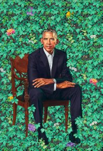 Barack Obama portrait by Kehinde Wiley