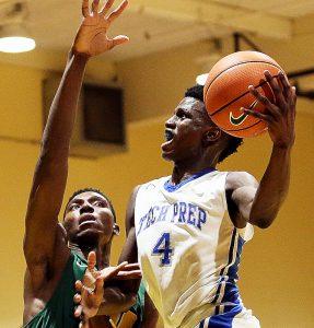 Friendship Tech Prep Academy senior guard Malik Miller scored 22 points against National Christian Academy on Feb. 3. (Daniel Kucin Jr./The Washington Informer)