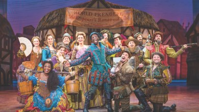 """The cast of the musical comedic play """"Something Rotten!"""" — now on stage at the National Theatre in D.C. through Feb. 18 — is seen here. (Jeremy Daniel)"""