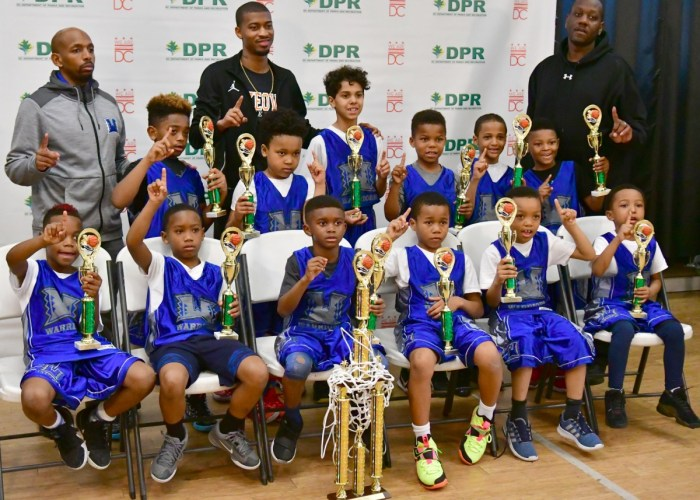 D.C. youth participate in the Department of Parks and Recreation's 2017-2018 basketball championships at the Lamond Recreation Center on March 10. (John E. De Freitas/The Washington Informer)