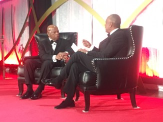 Rep. John Lewis takes part in a special Q&A session during the 46th annual Greater Washington Urban League Gala at the the Ronald Reagan Building and International Trade Center in D.C. on March 16. (Roy Lewis/The Washington Informer)