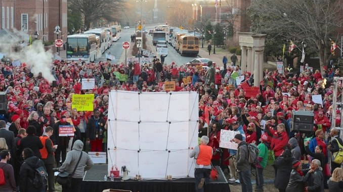 Educators rally in Annapolis on March 19 to urge lawmakers to approve legislation that ensures casino revenue enhances education. (Demetrious Kinney/The Washington Informer)