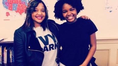 Thurgood Marshall Academy mentor Joanna Morrow with student Destiny (Courtesy of TMA)
