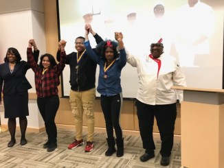 Three Prince George's County students who competed in a NAACP-held culinary contest won gold, silver and bronze medals. (Courtesy of PGCPS)