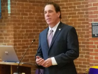 Baltimore County Executive Kevin Kamenetz died May 10 at the age of 60. He spoke at the Young Democrats of Maryland convention in Annapolis on Feb. 19. /Photo by William J. Ford
