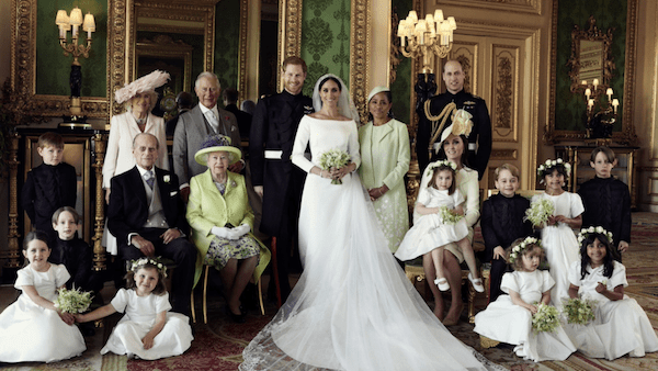 An official wedding photograph released by Kensington Palace on May 21