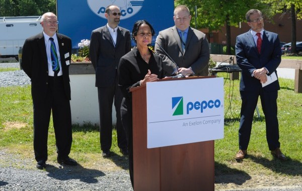 Pepco officials hold a press conference to roll out its Summer Readiness initiative at the utility company's Rockville, Md., training facility on June 14. (Courtesy photo)