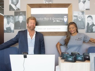 Jim and Deborah Guynn, owners of Distinctive Hair & Grooming for Men (Shevry Lassiter/The Washington Informer)