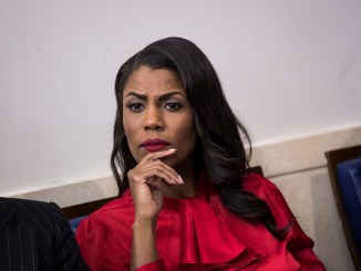 **FILE** Director of Communications for the White House Public Liaison Office Omarosa Manigault listens during the daily press briefing at the White House, October 27, 2017 in Washington, DC. (Drew Angerer/Getty Images)