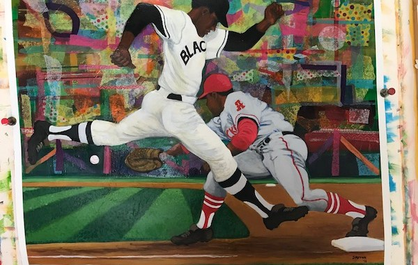 """A piece from artist Larry Saxton's """"America's Pastime"""" collection"""