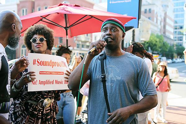 Raising their voices in protest (Sam P.K. Collins/The Washington Informer)