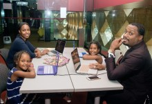 """Frank and Allene Bryant, seen here with their daughters Franki, 6, and Elle, 4, are the creators of the """"Learning with GoGo"""" book series. (Shevry Lassiter/The Washington Informer)"""