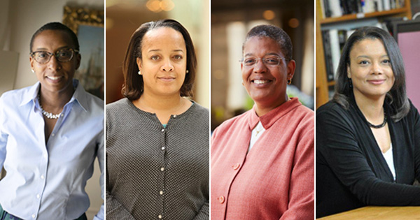 From left: Claudine Gay, Bridget Terry-Long, Michelle A. Williams and Tomiko Brown-Nagin (Courtesy of Harvard Crimson)