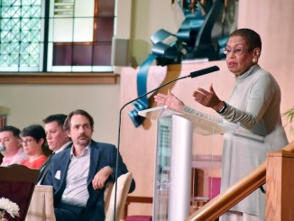 D.C. Delegate Eleanor Holmes Norton speaks at the Washington Hebrew Congregation in Northwest before a town hall discussion and vigil to combat hate on Aug. 10. (Robert Roberts/The Washington Informer)