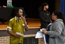 D.C. Council member Trayon White delivers the State of Ward 8 address to residents on Oct. 14. (Roy Lewis/The Washington Informer)