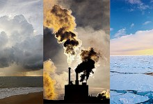 """""""Climate change"""" and """"global warming"""" are often used interchangeably but have distinctly different meanings. (Courtesy of NASA)"""