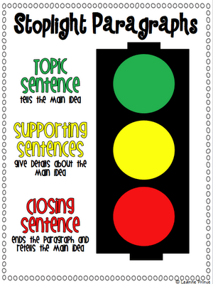 Stoplight Paragraphs Our Adventure into Expository Writing
