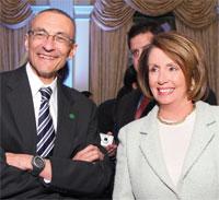 John Podesta and Speaker Nancy Pelosi. Photo by Tony Powell