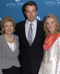 Ben Affleck, Sen. Kay Bailey Hutchison, and Alysee Larsen