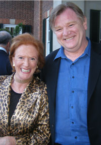 The Hon. Edwina Sandys Kaplan and Brendan Gleeson. Photo by Gail Scott.