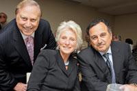 Mel Estrin, Rep. Jane Harman, and Egyptian Amb. Nabil Fahmy
