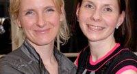 """Eat, Pray, Love"" author Elizabeth Gilbert with host Ludmila Cafrtiz"